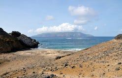 Plage sur un îlot Photographie stock