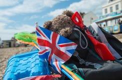 Plage Teddy Bear Images libres de droits
