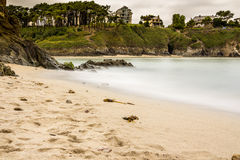 Plage tranquille en Asturies Photo stock