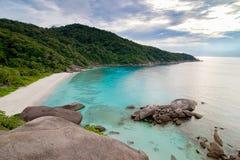 Plage tropicale, îles de Similan, mer d'Andaman Image libre de droits