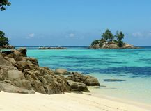 Plage tropicale Anse Royale Photographie stock