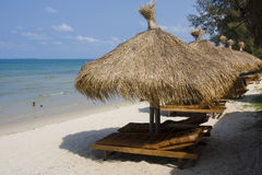 Plage tropicale au Cambodge Photo stock