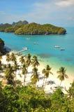 Plage tropicale au stationnement national d'île de lanière d'ANG, Photo libre de droits