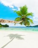 Plage tropicale Baie Lazare, île de Mahe, Seychelles Photo libre de droits