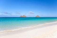 Plage tropicale chez Lanikai Photo stock