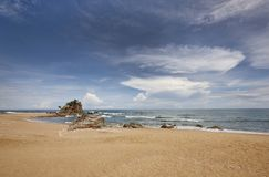 Plage tropicale chez Terengganu, Malaisie Photographie stock