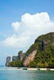 Plage tropicale d'île Photos libres de droits