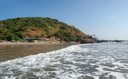 Plage tropicale d'arambol, Goa Photo stock