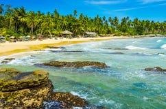 Plage tropicale dans Sri Lanka Photos libres de droits