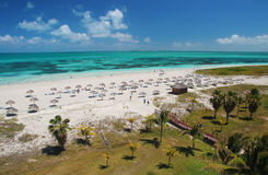 Plage tropicale des Caraïbes de sable de turquoise à Varadero Cuba Photo libre de droits