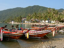 Plage tropicale en KOH Phangan, Thaïlande. Photographie stock libre de droits