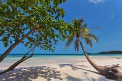 Plage tropicale exotique photo stock
