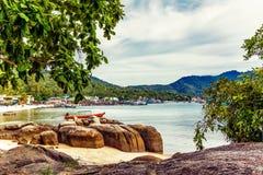 Plage tropicale exotique Photos stock