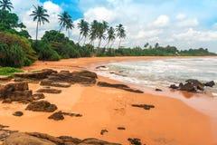 Plage tropicale exotique image stock