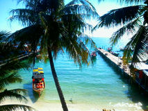 Plage tropicale Koh Rong, Cambodge d'île Photo stock
