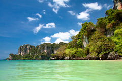 Plage tropicale, mer d'Andaman Photographie stock