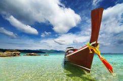 Plage tropicale, mer d'Andaman, Thaïlande Photos stock