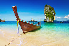 Plage tropicale, mer d'Andaman, Thaïlande Image stock