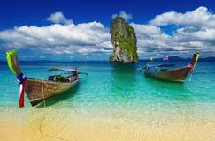Plage tropicale, mer d'Andaman, Thaïlande Images libres de droits