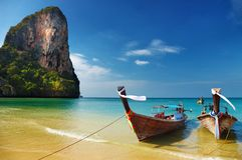 Plage tropicale, mer d'Andaman, Thaïlande Photo stock
