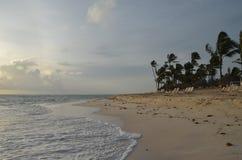 Plage tropicale, République Dominicaine  Image libre de droits