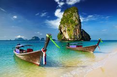 Plage tropicale, Thaïlande Photos stock