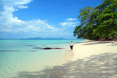 Plage VI d'Andaman Images stock