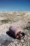 Plage vidée par cylindre métal-gaz Photos libres de droits