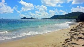 Plage vide sur le St Lucia Photo libre de droits