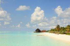 Plage view02 des Maldives Photos libres de droits