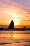 Plage View3 de côte de l'Orégon Photographie stock libre de droits