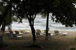 Plage volcanique d'Hawaï Photos libres de droits