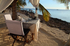 Plage Zanzibar reastaurant photographie stock libre de droits