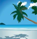 Plage2Beautiful aard, de zomervakantie Royalty-vrije Illustratie