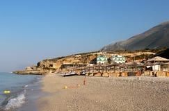 Plages étonnantes de Dhermi, Albanie Image stock