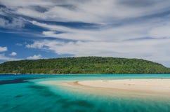 Plages blanches de sable au Royaume de Tonga Image stock
