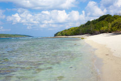 Plages blanches de sable du Timor oriental Photos stock