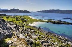 Plages blanches en Norvège Image libre de droits
