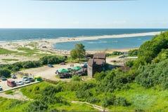 Plages de sable sur la mer baltique Yantarny, Russie Photo libre de droits