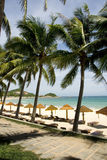 Plages ensoleillées, île de Hainan Images libres de droits