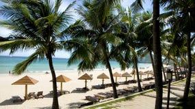 Plages ensoleillées, île de Hainan Photographie stock libre de droits