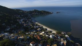 Plages et endroits paradisiaques, plages merveilleuses autour du monde, Restinga de plage de Marambaia, Rio de Janeiro, Brésil photo libre de droits