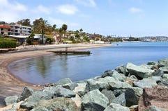 Plages et ressac la Californie de Loma San Diego de point. Image libre de droits