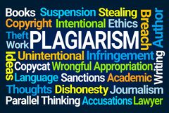 Plagiarism Word Cloud royalty free illustration