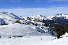 Plagne Aime 2000, Winter landscape in the ski resort of La Plagne, France Stock Photos
