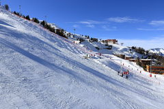 Plagne Aime 2000, Winter landscape in the ski resort of La Plagne, France Royalty Free Stock Photo