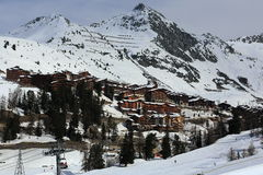 Plagne Centre, Winter landscape in the ski resort of La Plagne, France Stock Photography