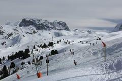Plagne Centre, Winter landscape in the ski resort of La Plagne, France Royalty Free Stock Photo