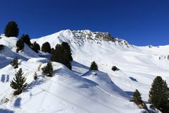 Plagne Centre, Winter landscape in the ski resort of La Plagne, France Stock Images