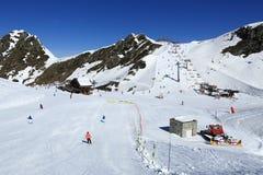 Plagne Centre, Winter landscape in the ski resort of La Plagne, France Stock Photo